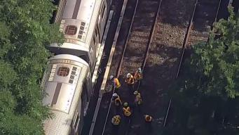 Train Derails at Brighton Beach