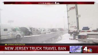 Truck Drivers Face Ban on NJ Roads During Storm