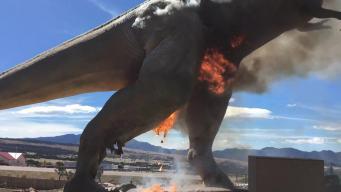 Extinction Event: Animatronic T-Rex Bursts Into Flames