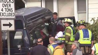 Van Careens into New Jersey Home