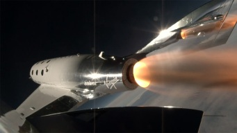 Virgin Galactic Spaceship Takes First Powered Flight