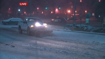 Snow and Slush Pile up on Long Island