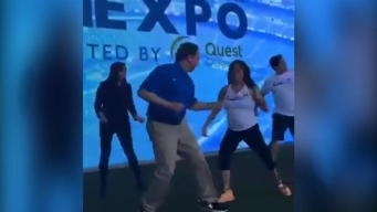 Bruce Beck Dances at the Health and Fitness Expo