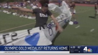 NJ Town Gives Hero's Welcome to Olympic Gymnast