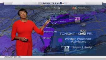 Early Evening Forecast for Thursday January 5, 2016