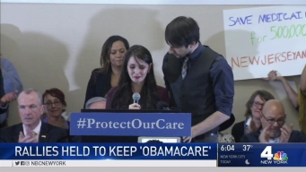 Rallies in Newark, NYC for 'Obamacare'