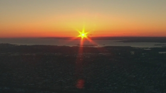 Chopper 4 Captures Magnificent Sunrise on 1st Day of Spring