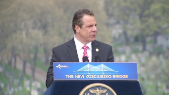 Cuomo Drives FDR Car Over New Kosciuszko Bridge to Celebrate Grand Opening