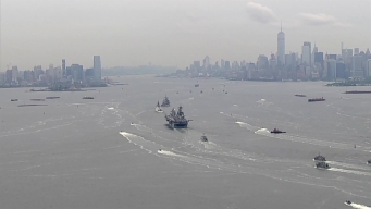 Parade of Ships Sail up Hudson Ahead of Fleet Week