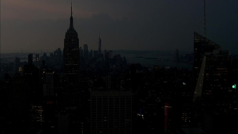 Dark Clouds Roll Into New York City Amid Hot, Stormy Weather