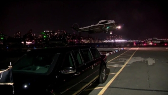 President Trump Lands in NYC