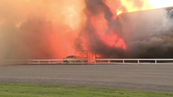 Fire Devours Barn at Goshen Historic Track