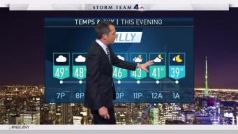 Early Evening forecast for Thursday November 9