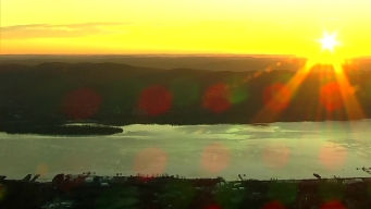 Chopper 4 Captures Sunrise Over Hudson River