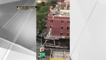 Massive Metal Construction Pile Crumples Off Brooklyn Rooftop, Plunges to Ground During Storm