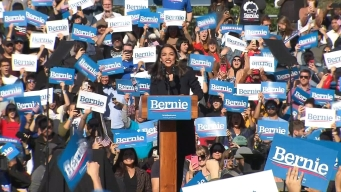 AOC Endorses Bernie Sanders for President at NYC Rally