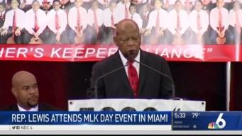 Rep. John Lewis Speaks at Miami MLK Event