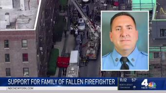 Widow of Fallen NYC Firefighter Speaks Outside Firehouse