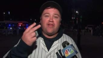 Yankees Fans Celebrate Game 5 Win
