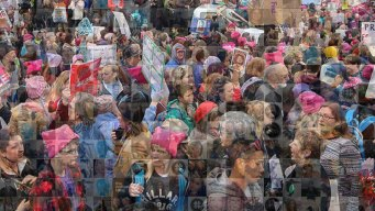 Women's March Mosaic: Social Posts from Washington, DC