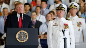 USS Ford Is '100,000-Ton Message to the World': Trump