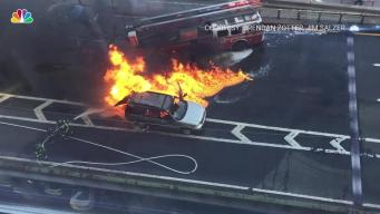 Huge SUV Fire on FDR Drive Caught on Camera