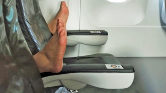 Horror: Feet Interrupt Woman's Joy Over Empty JetBlue Seats