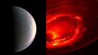 NASA Spacecraft Beams Back Close-Up Views of Jupiter's Poles