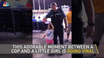 Adorable Moment Between Cop and Little Girl Caught on Camera