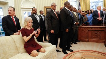 Too Casual? Conway's Oval Office Couch Kneel Sparks Debate