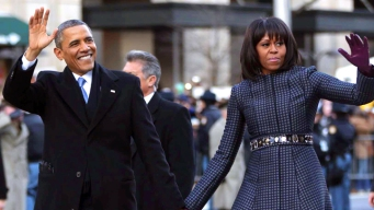 President and First Lady Walk Down Pennsylvania Avenue