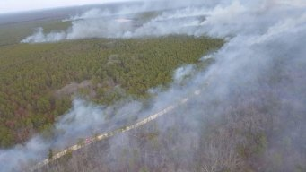 Forest Fire Burns in Ocean County: NJ Officials