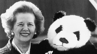 Britain's Margaret Thatcher in 1981: No Panda on My Plane