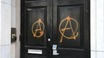 Molinaro: Vandals Sprayed Anarchy Sign At Republican Club