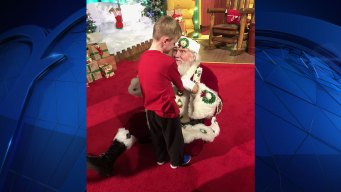 Child With Autism Meets Santa for First Time