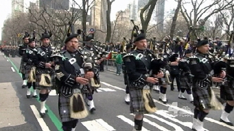 Crowds Line 5th Avenue for 252nd St. Patrick's Day Parade