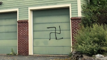 Signs, Garage in NJ Vandalized With Swastikas, Graffiti