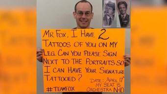 NYC Man Wants Michael J. Fox to Autograph Bizarre Leg Tattoo