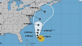 Jose, Again a Hurricane, Continues to Swirl North