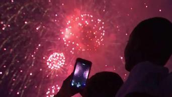Millions Watch Biggest Firework Display in NY History