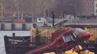 NTSB Comb Over Wreckage of Wrecked Chopper Looking for Cause