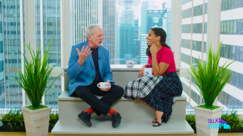 Nessa Welcomes Victor Garber Back to Broadway & He Shares a Special Message for His Neighbors!