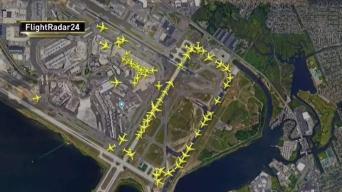 Wind Causes Long Delays at JFK Airport