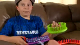 Colorado Boy Knits Hats for Sick Kids