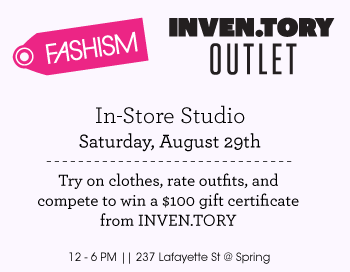 This Weekend: Fashism.com Rates Your Style at Inven.tory
