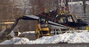 Helicopter Crashes as Pilot Practices Landings at NJ Airport