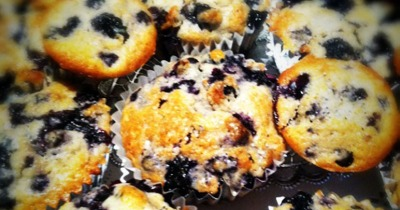 The Vegetable Diaries: Better-For-You Blueberry Muffins