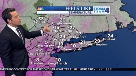 Raphael Miranda's forecast for February 14.