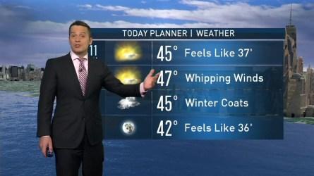 Raphael Miranda's morning forecast for Saturday, December 3, 2016.