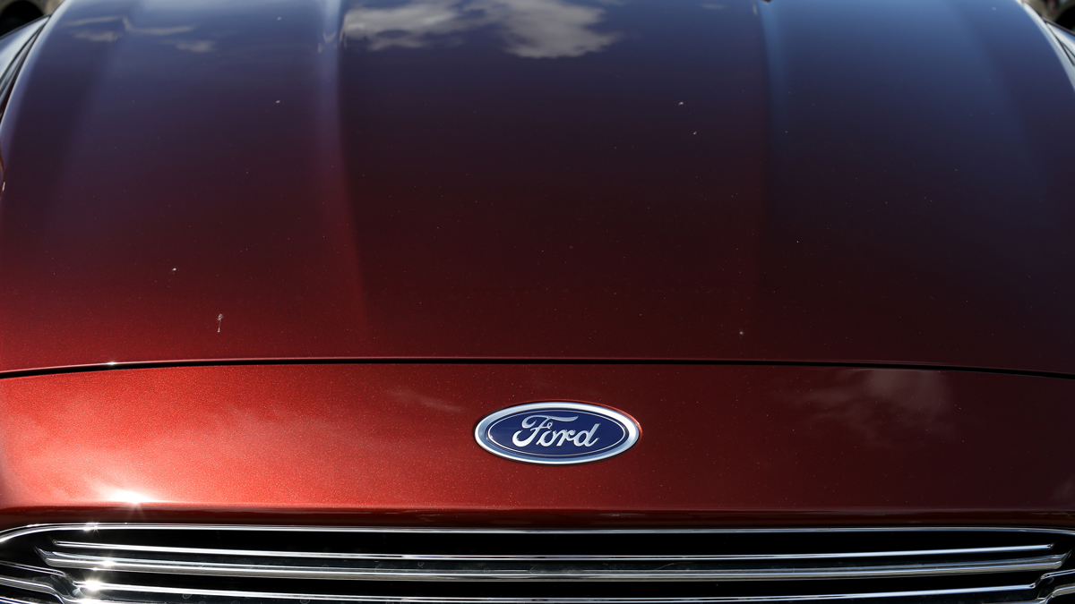 A Ford Fusion seen on a Miami dealership lot on September 26, 2014. (Photo by Joe Raedle/Getty Images)